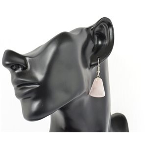 1p earrings natural stone on silver metal 71217