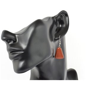 1p earrings natural stone on silver metal 71221