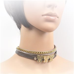 Collier ras de cou Chic et Strass New Collection Choker L32-40cm 71691