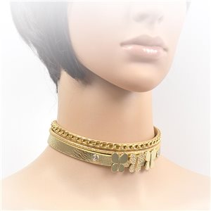 Collier ras de cou Chic et Strass New Collection Choker L32-40cm 71693