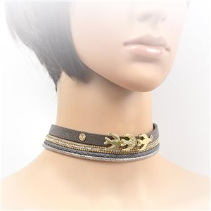 Collier ras de cou Chic et Strass New Collection Choker L32-40cm 71699