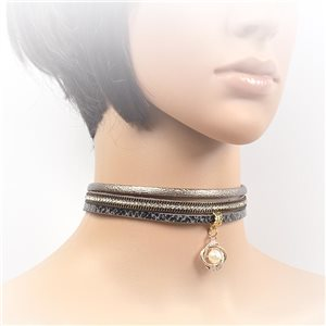 Collier ras de cou Chic et Strass New Collection Choker L32-40cm 71721