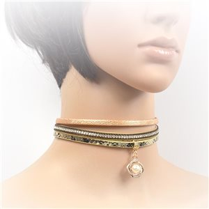 Collier ras de cou Chic et Strass New Collection Choker L32-40cm 71725