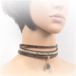 Collier ras de cou Chic et Strass New Collection Choker L32-40cm 71715