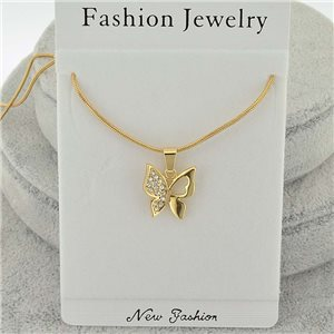 Necklace pendent IRIS rhinestone strass chain snake l40-45cm new collection 71827