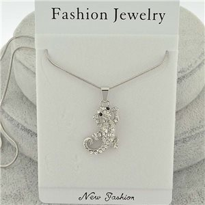 Necklace pendent IRIS rhinestone strass chain snake l40-45cm new collection 71854