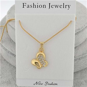 Necklace pendent IRIS rhinestone strass chain snake l40-45cm new collection 71861