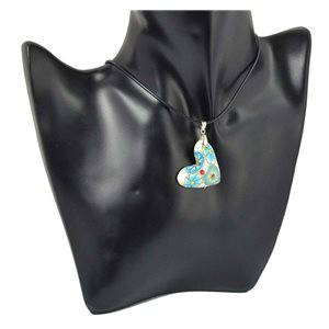 Necklace with pendant Polymere and Rhinestone pendant 70465
