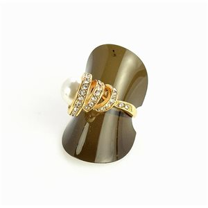 Bague Strass Gold T57 Collection 68683-4