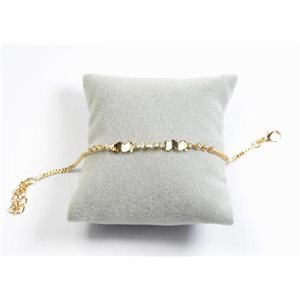 Bracelet Strass Chic L19-23cm Collection métal doré 65895