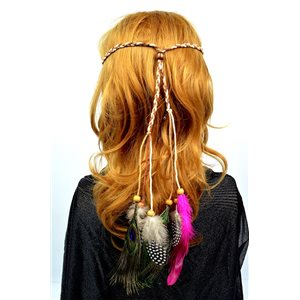 Headband with Feathers Diam max 22cm L20cm min Collection Spring 2017 71986