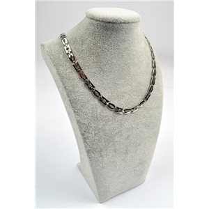 Chain Necklace in Stainless Steel L50cm Steel Color New Collection 72749