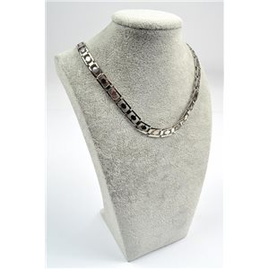 Chain Necklace in Stainless Steel L50cm Steel Color New Collection 72753