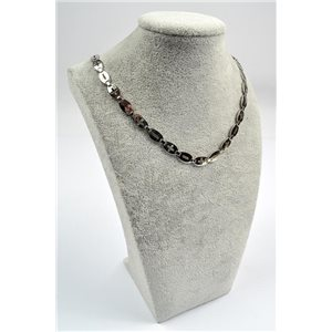 Chain Necklace in Stainless Steel L50cm Steel Color New Collection 72754