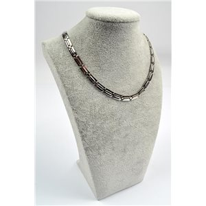 Chain Necklace in Stainless Steel L50cm Steel Color New Collection 72755