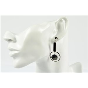 1p Earrings Nail Earrings Silver Color Collection Graphika 73203