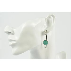 1p Earrings Metal Earrings Color Silver Platinum Collection MilaLina 73153