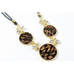 Necklace in mail cloisonne set of rhinestones l43-49cm collection cybele fashion chic 73217