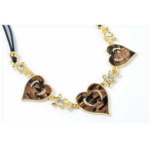 Necklace in e-mail cloisonne set of rhinestones l43-49cm collection cybele fashion chic 73239