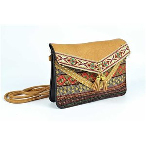 Women's Ethnic Embroidered Suede H13-L19cm New Collection 73337