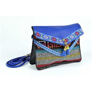 Ethnic Womens Embroidered Suede H13-L19cm New Collection 73340