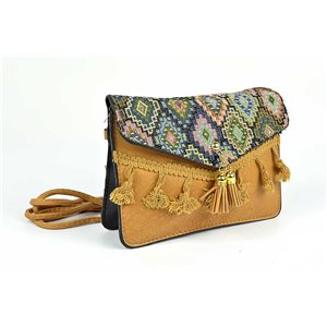 Women's Ethnic Embroidered Suede H13-L19cm New Collection 73343