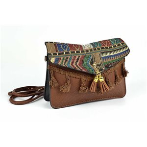 Ethnic Womens Embroidered Suede H13-L19cm New Collection 73344