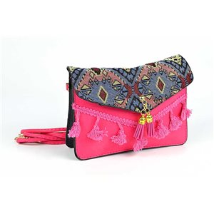 Women's Ethnic Embroidered Suede H13-L19cm New Collection 73345