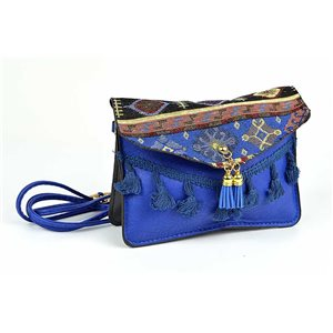 Ethnic Womens Embroidered Suede H13-L19cm New Collection 73346