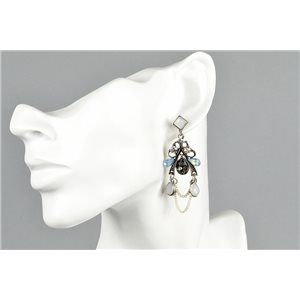 1p Boucles Oreilles à Clou serti de Strass Collection ATHENA 73426