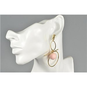1p Earrings Ear Studs Metal Color Gold Collection Graphika 73458