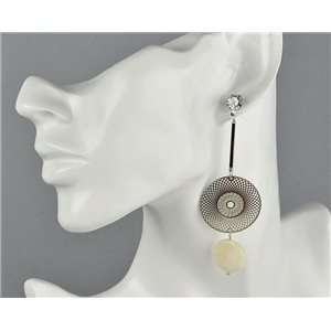 1p Boucles Oreilles Pendantes à clou Collection Graphika 2018 73817