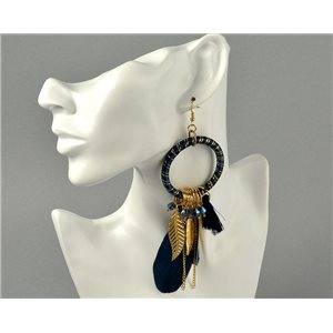 1p Earrings Hook Earrings Pearls and Feathers Collection 2018 Dream Catcher 73918