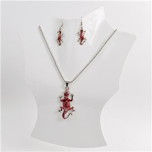 Necklace VISAGE enamels and rhinestone New Collection 2018 Winter Color 75013