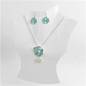 Necklace VISAGE enamels and rhinestone New Collection 2018 Winter Color 75033