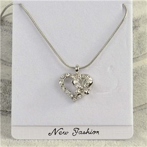 Pendant necklace IRIS rhinestone strass chain snake L40-45cm Collection 2018 75157