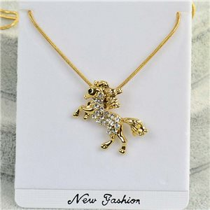 Necklace pendant IRIS rhinestone gold chain chain snake L40-45cm Collection 2018 75176