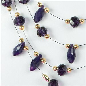 Parure Collier 4 rang de Perles L44-48cm Collection Suspension 2018 75138