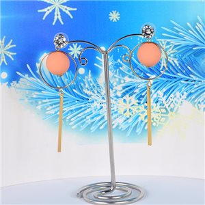 1p Earrings Stud Earrings Collection Christmas Balls Gold Metal 75192