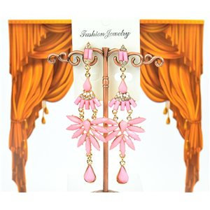 1p Boucles Oreilles à clou sertie de Strass Collection ATHENA 8cm 75227