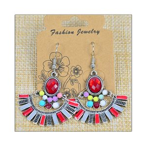 1p Earrings ATHENA silver plated metal set with Rhinestones New Ethnic Collection 75474
