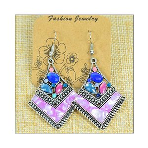 1p Earrings ATHENA silver plated metal set with Rhinestones New Ethnic Collection 75514