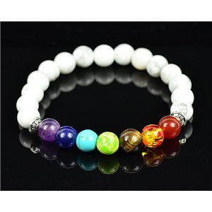 Bracelet Porte Bonheur 7 Chakras en Pierres naturelles New Collection 75781