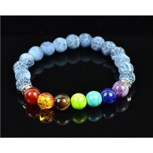 Bracelet Porte Bonheur 7 Chakras en Pierres naturelles New Collection 75782