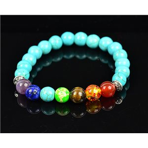 Bracelet Porte Bonheur 7 Chakras en Pierres naturelles New Collection 75783