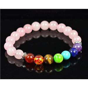 Bracelet Porte Bonheur 7 Chakras en Pierres naturelles New Collection 75784