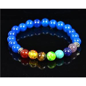 Bracelet Porte Bonheur 7 Chakras en Pierres naturelles New Collection 75785