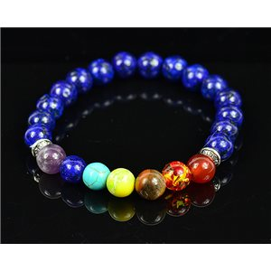 Bracelet Porte Bonheur 7 Chakras en Pierres naturelles New Collection 75786