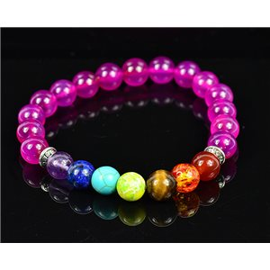 Bracelet Porte Bonheur 7 Chakras en Pierres naturelles New Collection 75787