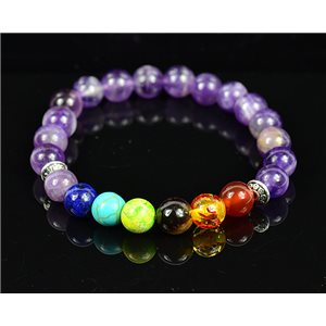 Bracelet Porte Bonheur 7 Chakras en Pierres naturelles New Collection 75788
